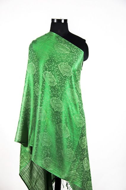 LUSH GREEN PAISLEY SCARF FOR WOMEN