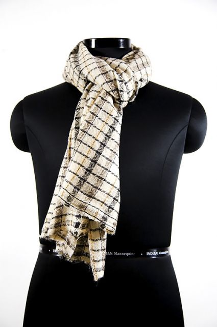 BRANCH BROWN WOOL SCARF FOR MEN
