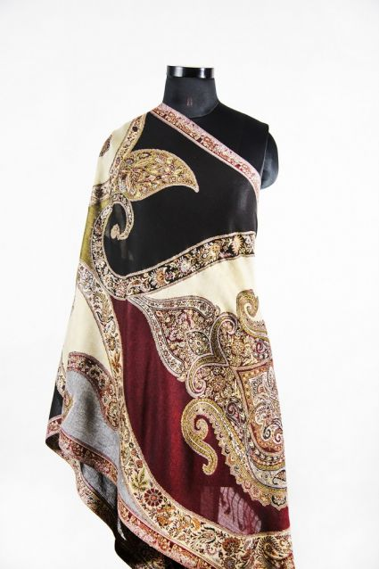 GREEN MAROON PAISLEY FASHION SCARVES FOR WOMEN IN INDIA