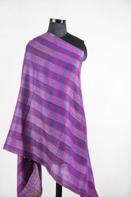 WINTER CHARM CHECKS 100 WOOL SCARF FROM INDIA