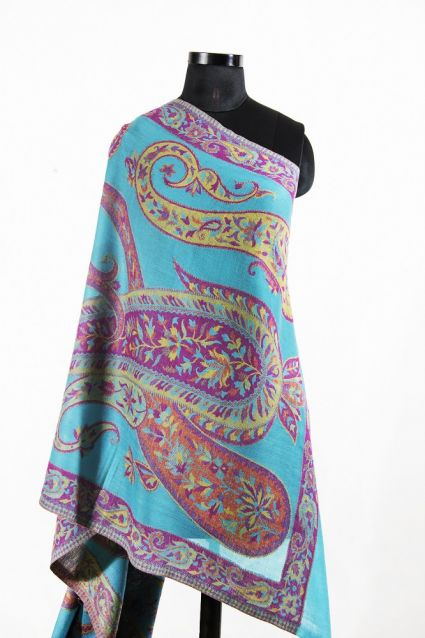 TURQUOISE GREEN CHEAP PASHMINA SCARVES FROM INDIA