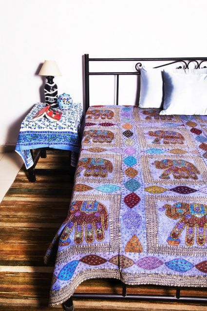 ELEPHANT PATCH INDIAN BEDSPREADS-BC07