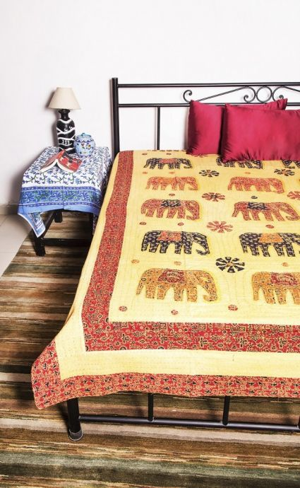 ELEPHANT PATCH WORK BEDSPREADS-BC32