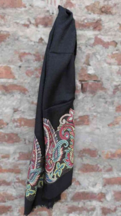 BLACK & GREEN DESIGNER SCARF FROM INDIA