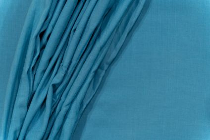 Grotto Blue Cotton Mulmul/voile Fabric
