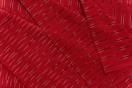 Red Black Ikat Cotton Fabric