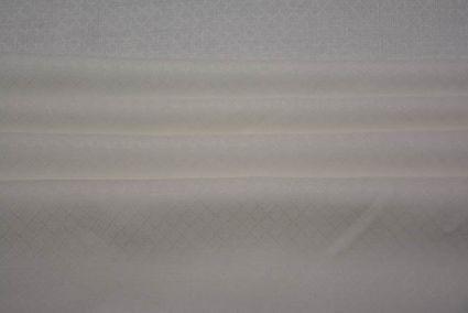 WHITE SELF DESIGN IRISH LINEN FABRIC-NVHF2704