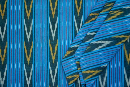 TRICOLOR IKAT FABRIC BY THE YARD-HF1304