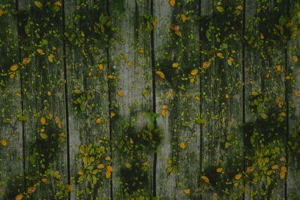 Green And Yellow Digital Print Crepe Fabric