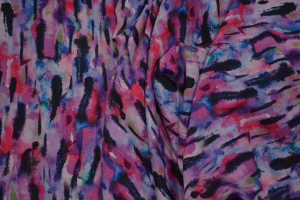 Multicolor Designer Digital Print Crepe Fabric