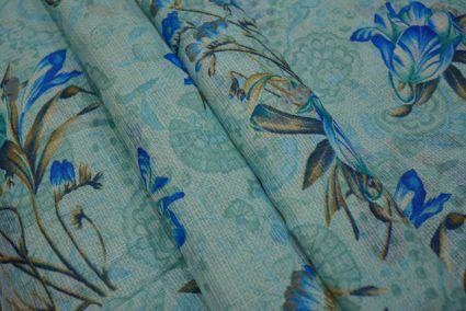 DIVA BLUE FLORAL KOTA DORIA FABRIC-HF2725