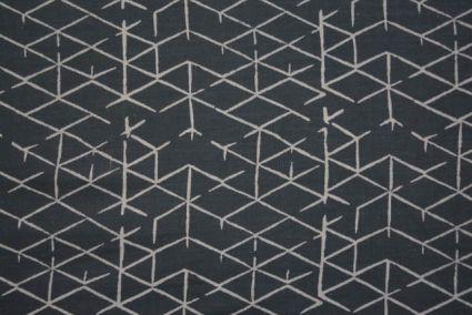 Upholstery Grey Diamond Block Printed Fabric