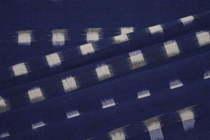 NAVY BLUE DOUBLE IKAT FABRIC-HF4605