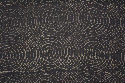 Upholstery Lead Grey Block Printed Fabric