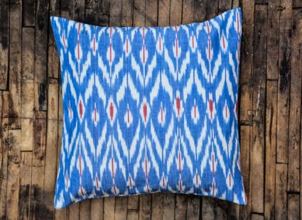 TRICOLOR IKAT CUSHIONS ONLINE-BC16