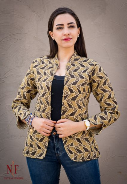 AJRAKH REVERSIBLE BLOCK PRINT QUILTED JACKETS-J115