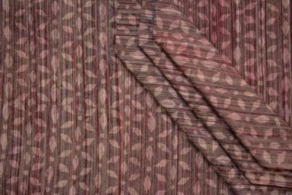 KASHISH GREY FLORAL BLOCK PRINT COTTON FABRIC-HF1426