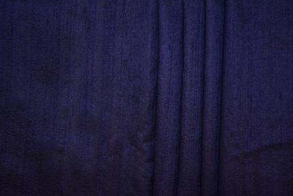 NAVY BLUE RAW SILK FABRIC BY THE YARD-HF1432
