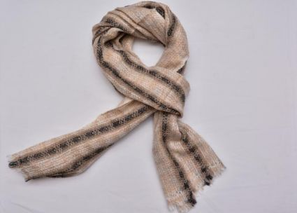 STRIPED CASHMERE WOOL STOLE-CS07
