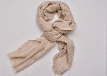 NATURAL CASHMERE WOOL STOLE-CS08