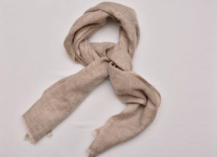 NATURAL CASHMERE WOOL STOLE-CS06