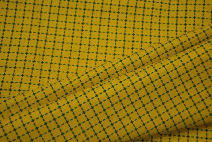 Fressia Yellow Line Print Rayon Fabric