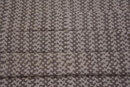 KASHISH GREY DESIGNER BLOCK PRINT COTTON FABRIC-HF1462