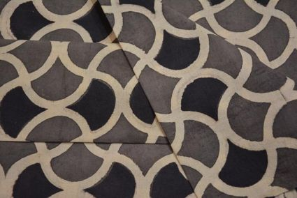 Designer Block Print Ajrakh Fabric