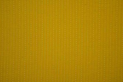 Mustard Cotton Kantha Stitch Fabric
