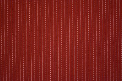 Maroon Cotton Kantha Stitch Fabric