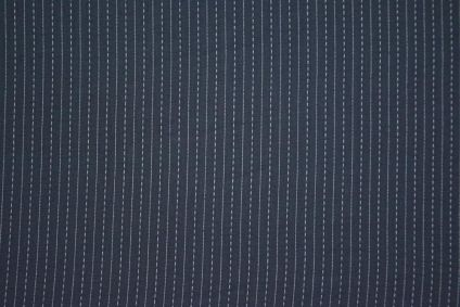 Grey Cotton Kantha Stitch Fabric