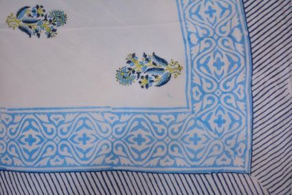 Floral Printed Pareo Sarong In Sky Blue Color