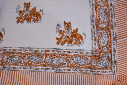 Animal Printed Pareo Sarong In Peach Color