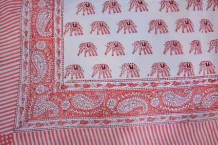 Floral Printed Pareo Sarong In Pink Color