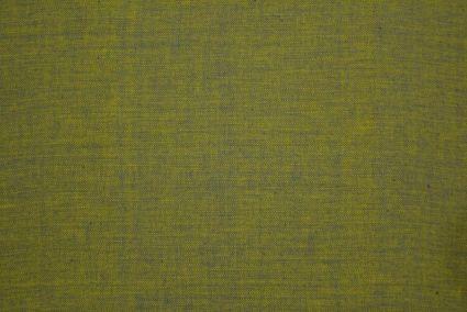 Apple Green Yellow Herring Bone Double Tone Handloom Cotton Fabric