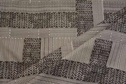 WHITE AND GREY INDIAN COTTON FABRIC-HF1605