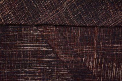 BLACKISH BROWN BRUSH BLOCK PRINT FABRIC-HF3278