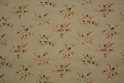 Butterscotch Cream Digital Print Cotton Linen Shirting Fabric