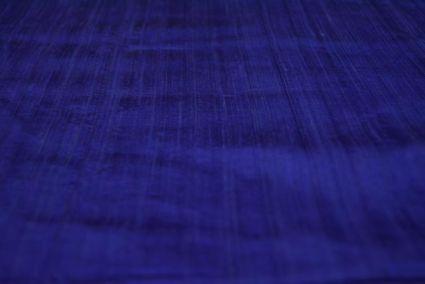 Dazzling Blue Handloom Raw Silk (dupion)