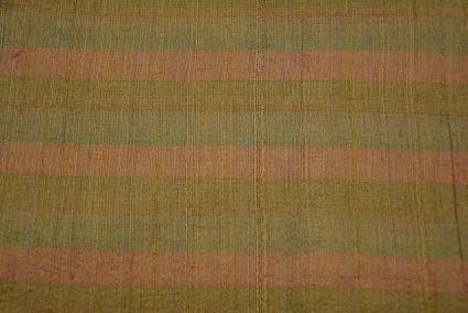 Tricolor Striped Handloom Raw Silk (dupion)