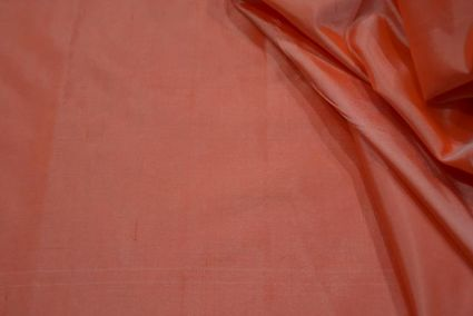 Nectar Peach Plain Handloom Mulberry Silk