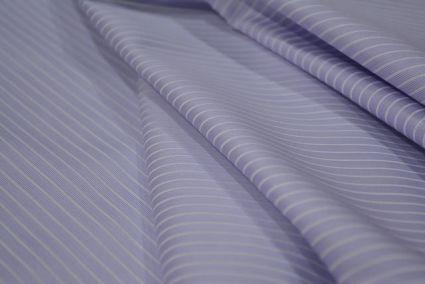 Pastel Lilac Pink & White Giza Cotton  Shirts Fabrics
