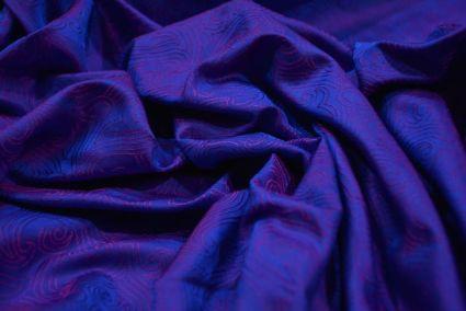 Iris Blue And Pink Tanchui Banarasi Silk Fabric