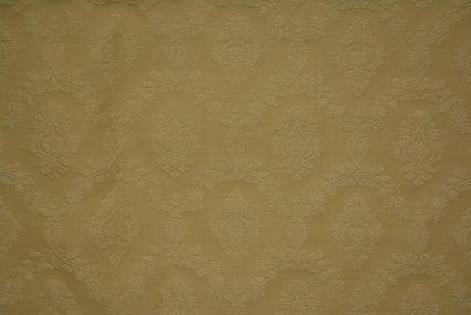 Straw Shade Embroidered Banarasi Cotton Fabric