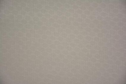 White Self Design Pure Irish Linen Fabric