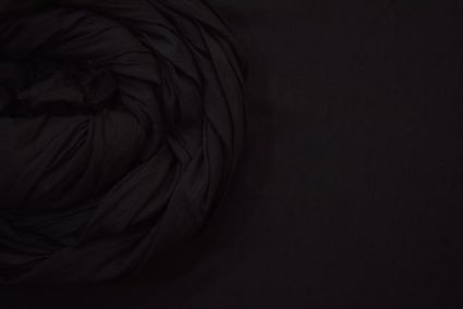 PIRATE BLACK MULMUL/VOILE COTTON FABRIC-HF3706