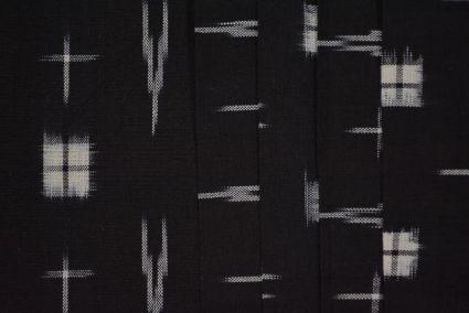 BLACK DOUBLE IKAT COTTON FABRIC -HF3845