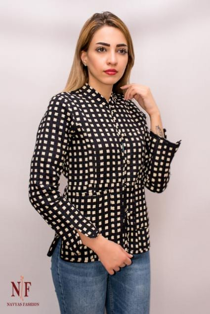 Black & White Quilted Jackets - NVQJ129