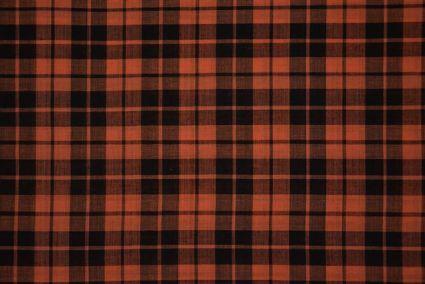 Fusion Coral And Black Checks Pattern Mangalgiri Pure Handloom Cotton Fabric