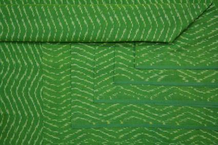 GREEN HANDLOOM FINE IKAT FABRIC-HF1865